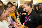Fans from Whakatane welcome  gold medalist Lisa Carrington. Photo / Richard Robinson