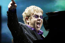 Elton John has finally found something nice to say to Madonna. Photo / AP