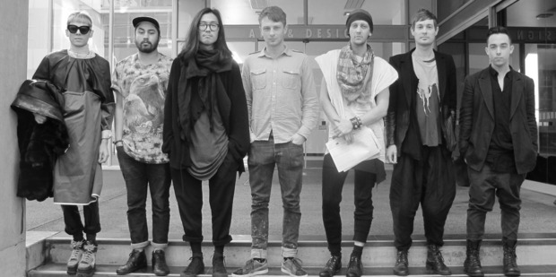 Students left to right: Duncan Brown, Tuhirangi Blair, Sangho Ha, Samuel Thorpe, Rich McEvoy, Jason Lingard, Michael Murray. Photo / Supplied
