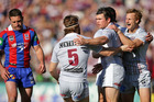 Manly dismantled Newcastle 42-20 yesterday. Photo / Getty Images