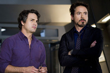 Mark Ruffalo and Robert Downey Jr from The Avengers. Photo / Supplied