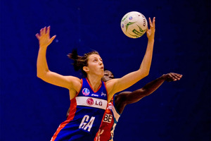 Bailey Mes played just one quarter for the Mystics this year. Photo / Dean Purcell