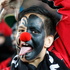 All Black fan 12-year-old Mahonri Ngakuru gets into the spirit of Red Nose Day. Photo / Richard Robinson