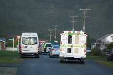 Police and paramedics at the scene. Photo / Keira Stephenson