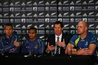 Robbie Deans talks to the media following the Wallabies' 22-0 defeat to the All Blacks. Photo / Getty Images
