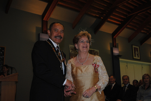 Dame Malvina Major is presented with the Order of New Zealand. Photo / Supplied