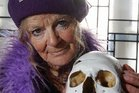 Poor Yorrick or Ned? Anna Hoffman from Napier claims this is the skull of Ned Kelly.    Photo / Paul Taylor