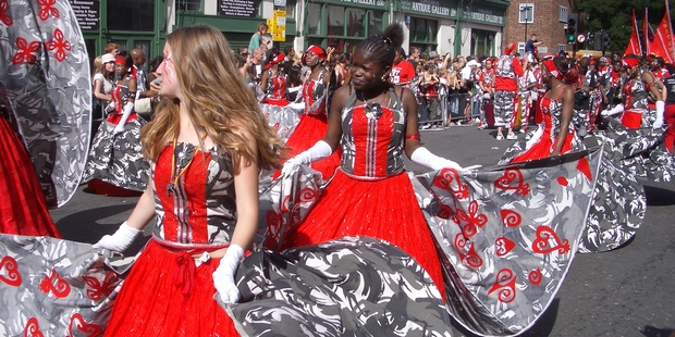 Notting Hill carnival has always celebrated the strength and spirit of diversity.  Photo / Heather Rai