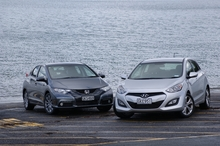 It was hard to choose between the Civic Euro L and i30 Elite. Photo / David Linklater