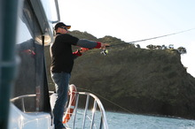 Lure fishing expert Lionel Korach is a master with the light casting rod.