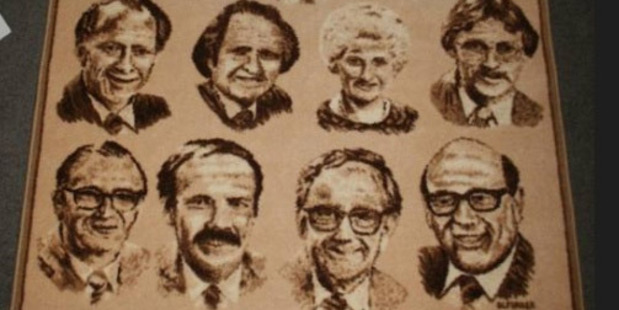 The 1984 Labour Cabinet rug. Photo / Supplied