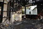 The aftermath of the fire in the Rata Street house. Photo / Gisborne Herald