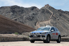 The VW Touareg at the Great Wall of China on its epic trip to St Petersburg. Photo / Supplied