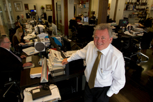 Publisher Barry Colman at the helm of the NBR. Photo / Brett Phibbs