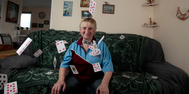 Card champ Lesley Higham says card games promote family interaction.  Photo / Michael Craig