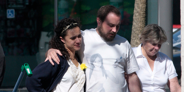 Keisha Castle-Hughes was shopping in Newmarket with fiance Jonathan Morrison and his mum. Photo /  Chris Loufte
