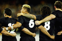 Jerry Collins (No 6), Rodney So'oialo (No 8) and Chris Jack (right) were once key All Blacks but fell swiftly from favour. Photo / Getty Images