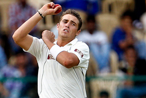New Zealand bowler Tim Southee. Photo / AP