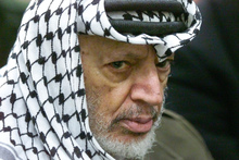 Yassar Arafat was well-guarded, raising the question of Palestinian involvement in any death plot.  Photo / AP