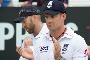 Andrew Strauss was fearful his poor form with the bat meant he would overstay his welcome. Photo / AP