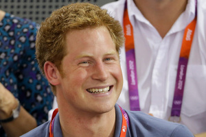 Prince Harry watches track cycling during the 2012 Summer Olympics. Photo / AP