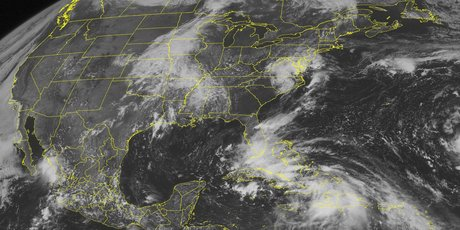 This NOAA satellite image shows Tropical Storm Isaac. The storm has prompted a hurricane warning for the Louisiana and Florida coastlines. Photo / AP