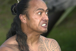 A powhiri at the Rotorua Maori Cultural centre. Photo / Tracey Scott