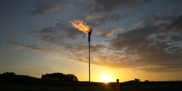 Solid Energy methane extraction site near Huntly. Photo / Supplied