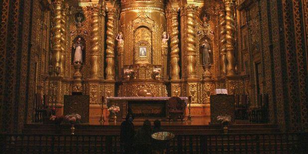The 400-year-old La Compania de Jesus glitters with gold. Photo / Jim Eagles