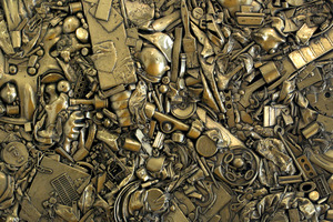 No.9 Brass Rough by Alexander Bartleet, showing at Warwick Henderson Gallery, Parnell. Photo / NZ Herald