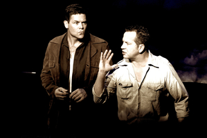 Paul Glover and Scott Wills as Jack Kerouac and Neal Cassady in Beautiful Losers. Photo / Supplied