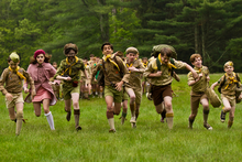 The Moonrise Kingdom troop make a dash for it. Photo / Supplied