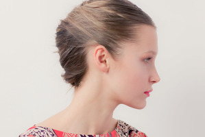 Karen Walker - tomboy updo. Hair by Chong Li for Stephen Marr, makeup by Amber Dreadon for M.A.C. Photo / Oliver Rose
