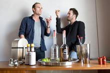 Roger Holmes (left) and Jamie Duff, founders of Stolen Rum.  Photo / Richard Robinson.