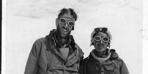 Sir Edmund Hillary and Sherpa Tensing Bhutia after they climbed Mt Everest. Photo / File