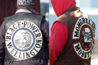 Gang patches of Black Power (left) and the Mongrel Mob. Photo / Supplied