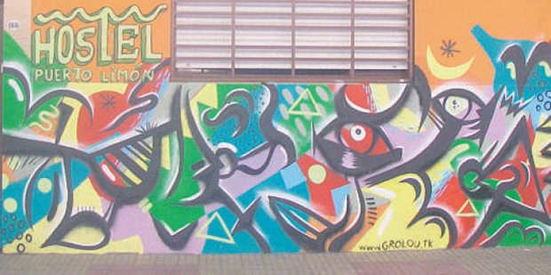 Many of the Buenos Aires murals are clever and colourful. Photo / Graham Reid