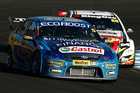 Russell Ingall takes a swing at Mark Winterbottom at Sydney Motorsport Park. Photo / Getty Images