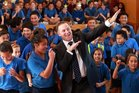 "Prime Minister John Key seems to have invented a new dance move called the ""Usain Bolt""."