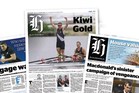 How the new format newspaper will look.  Photo / Herald Graphic