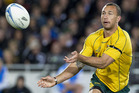 Quade Cooper during Australia's loss to the All Blacks on Saturday night. Photo / Sarah Ivey