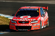 Jamie Whincup on his way to victory in Sydney. Photo / Getty Images