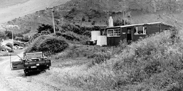 A utility vehicle belonging to one of the victims, Mr Garry Holden, outside David Gray's house. File Photo / NZ Herald