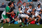 Gareth Anscombe of Auckland carves up the Manawatu defence during the round three ITM Cup match between Auckland and Manawatu at Eden Park. Photo / Getty Images.