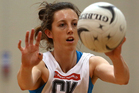 Bailey Mes passes during a Silver Ferns netball training session at Unitec on September 5, 2012. Photo / Getty Images.