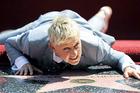 Ellen Degeneres receives her star on the Hollywood Walk of Fame.  Photo / AP