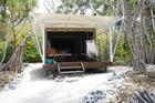 A private canvas villa on the foreshore of Wilson Island. Photo / Paul Rush