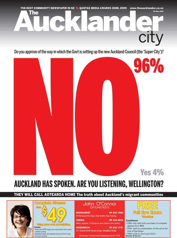 One of the past front pages of The Aucklander that got Aucklanders talking.