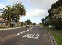 Oceanview Rd in Tauranga was the scene of the bedroom invasion. Photo / Bay of Plenty Times 