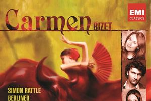 Carmen by Bizet - Simon Rattle conducts the Berlin Philharmonic Orchestra with soloists Magdalena Kozena , Jonas Kaufmann , Genia Kuhmeier and Kostas Smoriginas.